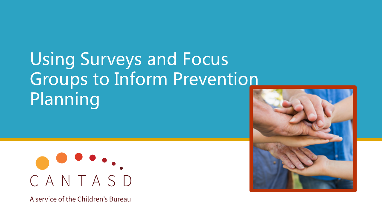 State Prevention Planning: Using Surveys and Focus Groups to Inform Planning (This link opens in a new window)