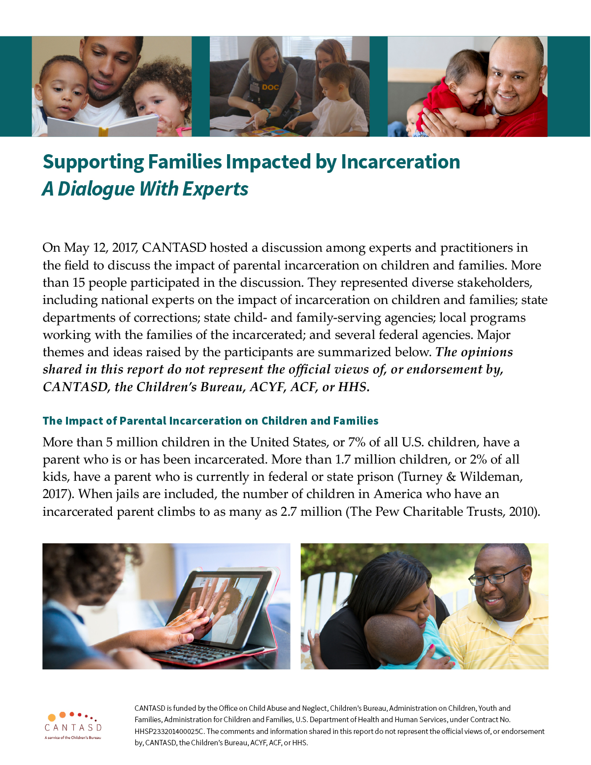 Supporting Families Impacted by Incarceration: A Dialogue with Experts